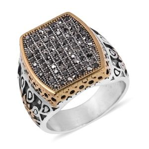 Other - Hematite Color Austrian Crystals Bk Oxidized, ring